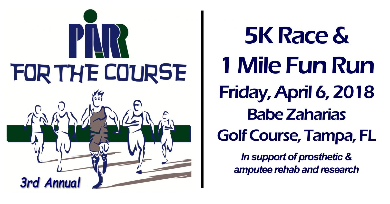 3rd Annual PARR for the Course 5K/1Mile Run