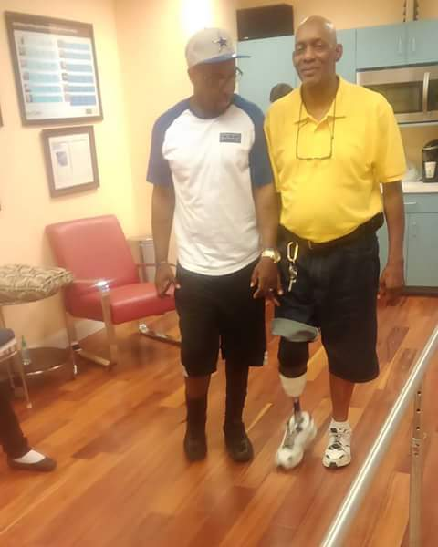 Benjamin Presley received his temporary prosthesis