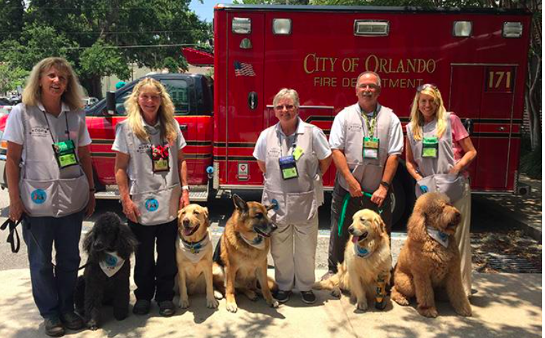 Therapy Dog Gives Comfort After Orlando Shooting